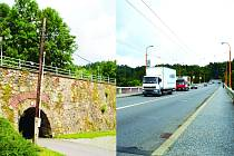 Dvě stejnojmenné stavby dělí jen malá vzdálenost. Rozdíl v čase je větší - stáří mostů se liší téměř o dvě stě let.