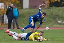 Fotbalové divizní utkání mezi FC Vysočina B a PBS Velká Bíteš.