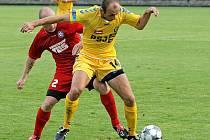 Na první výhru se Jihlava (ve žlutém Peter Krutý) pořádně nadřela.