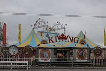 Už v úterý bylo šapitó cirkusu Navaro King připraveno na první jihlavské představení.