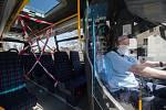 Ochranná opatření v městské hromadné dopravě. Ilustrační foto.