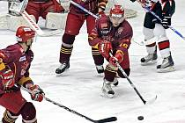 Jihlavští hokejisté na domácím ledě nestačili na Znojmo, ikvůli dvěma gólům hostujícího Říhy prohráli 2:3.