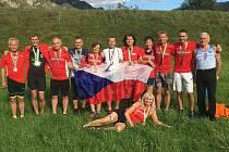 Česká reprezentace na ME Masters v běhu do vrchu.