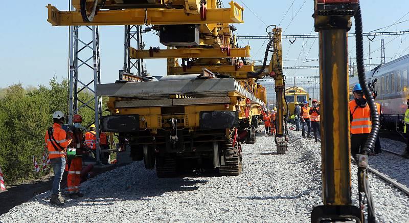 Stavba vysokorychlostní trati.