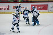 Zápas 22. kola hokejové extraligy mezi HC Dukla Jihlava a HC Škoda Plzeň.