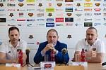 Tisková konference HC Dukla Jihlava k příležitosti nedávného oznámení podpisu smluv s trenéry A-týmu.