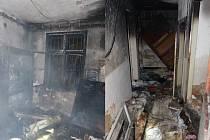 Při požáru neobydleného domu se čtyři muži nadýchali zplodin.