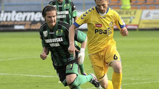 Záložník Vysočiny Marek Jungr sice otevřel skóre zápasu, se spoluhráči ale vedení neudržel a Sokolov si odvezl domů bod za remízu 1:1.