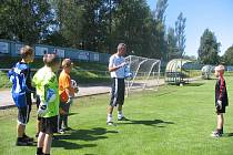 Členem týmu Brankářské školy Petra Kouby je také Marek Juska (na snímku), který společně Petrem Kostelníkem v Bystřici v létě tréninkový kemp vedli.