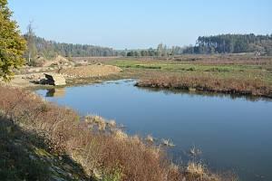 Rybník v Černíči.
