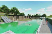 Návrh bazénu nad rybníkem Peklo je jednou ze dvou variant stavby koupaliště v Polné.