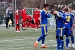 Přípravné utkání mezi FC Vysočina Jihlava a FC Zbrojovka Brno.