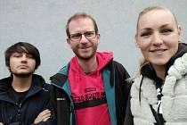 Patrik, mentor Tomáš a koordinátorka Ivanka