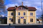 Vlakové nádraží v Telči.