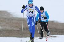 Zdeněk Tulis dlouho vedl v běžeckém závodě starších žáků. Nakonec ale skončil na konci první desítky.