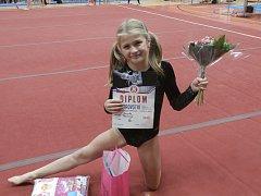 Nadějná gymnastka Sokola Bedřichov Dorota Pešová si své první mistrovství republiky mohla užít. Skončila na skvělém šestém místě.