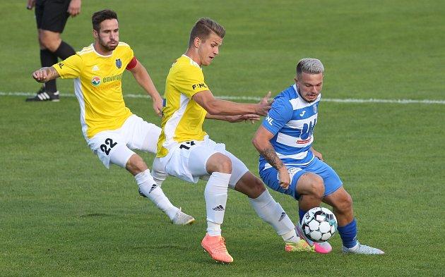 Fotbalové utkání mezi Armou Ústí a Jihlavou