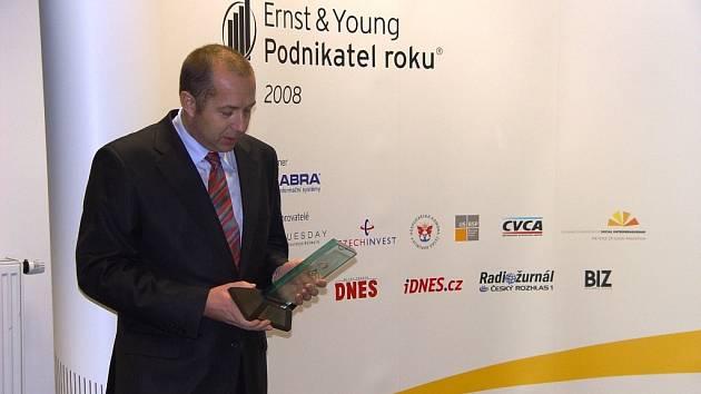 Vítěz ankety Podnikatel roku na Vysočině Roman Stryk