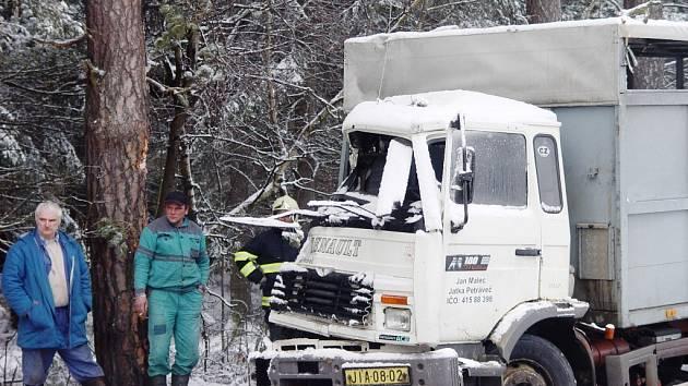 Nákladní auto, které vezlo prasata, havarovalo v úterý odpoledne u Hodic na Jihlavsku.