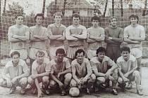 Fotbalový tým Třeště - 80 léta.