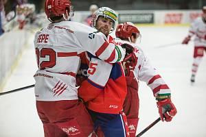 Třebíčským hokejistům zvlhl ve Vsetíně střelecký prach.