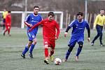 Fotbalové utkání mezi FSC Stará Říše a SK Huhtamaki Okříšky na umělé trávě v Jihlavě.