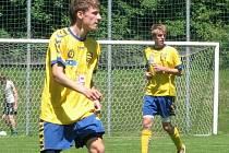 Fotbaloví starší dorostenci Jihlavy (zleva Jakub Góth a Roman Turek) skončili na Krejča Cupu poslední.