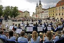 Mahlerovský festival Hudba tisíců v minulosti často koncertně zavítal na Masarykovo náměstí v Jihlavě.