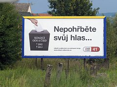 K předvolební kampani v Česku patří již tradičně billboardy. Takto láká voliče koalice lékařů ve Zlínském kraji. Na Vysočině toto uskupení nekandiduje.