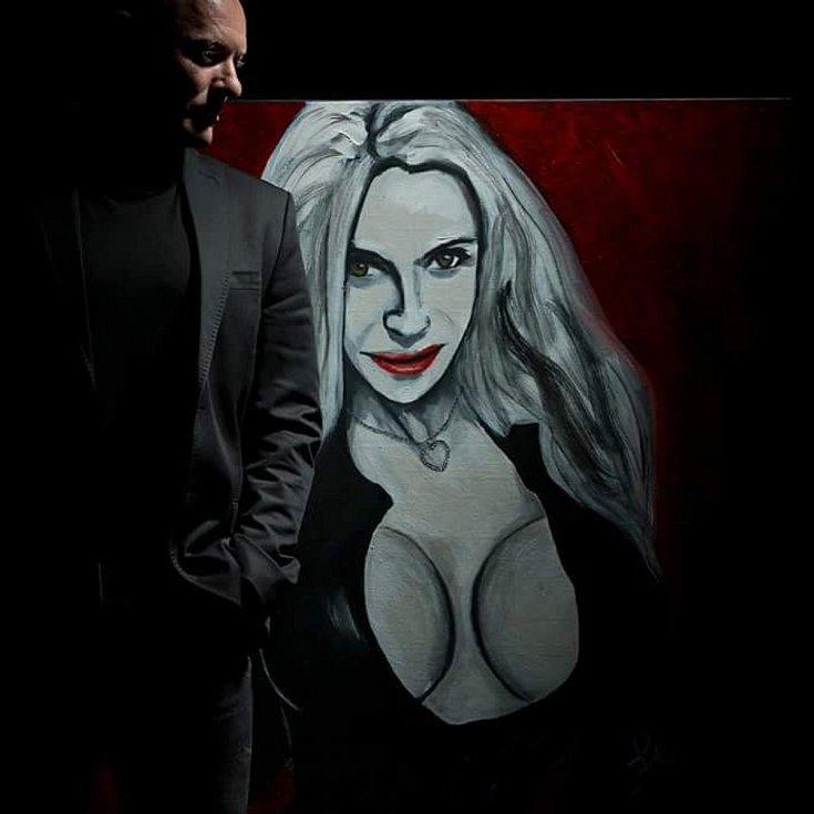 Václav Florian, akryl na plátně.