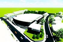 Vizualizace. Takto vypadá rekonstruovaný zimní stadion ve studii Antonína Buchty.