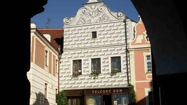 V Telči na náměstí je dům, který skrývá překvapení především pro nejmenší návštěvníky.