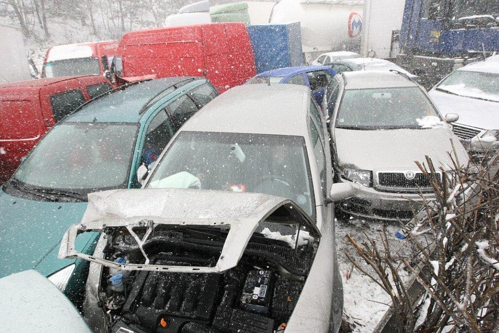 Hromadná nehoda na dálnici D1.