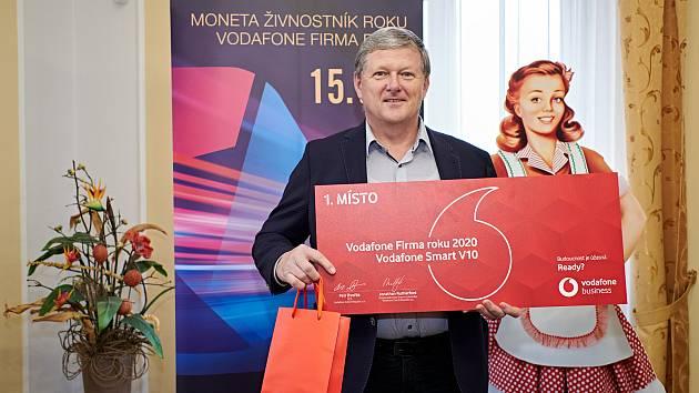 Vladimír Zeman z potravinářské společnosti Amylon byl oceněn mezi podniky.