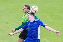 Fotbalové utkání F:NL mezi FC Vysočina Jihlava a FC Slavoj Vyšehrad. Ilustrační foto.
