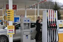 Ceny pohonných hmot v Pelhřimově v březnu 2021.