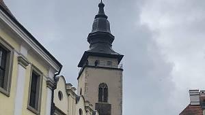 Koncert na věži svatého Jakuba v Telči.