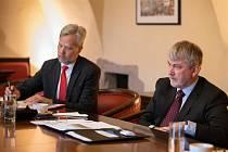 Norská delegace na jihlavské radnici.