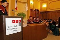 Slavnostní příjetí mezi vysokoškolské studenty Vysoké školy polytechnické v Jihlavě