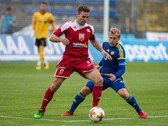 Přípravný zápas mezi FC Vysočina Jihlava a FC Velké Meziříčí.