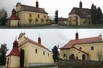 Obnova fasády kostela Narození Panny Marie v Zachotíně.