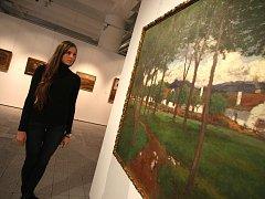 Slavíček ve Zlíně. Výstavu Slavíčkových obrazů s názvem Mezi životem a uměním mohli už na začátku roku vidět návštěvníci krajské galerie výtvarného umění ve Zlíně.