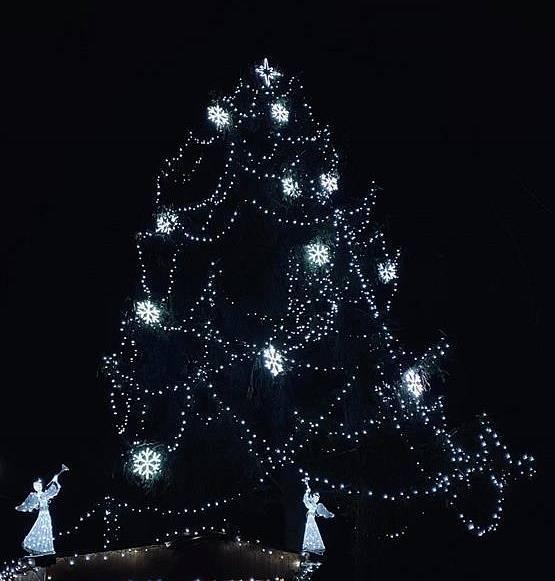Vánoční strom v Sazomíně.