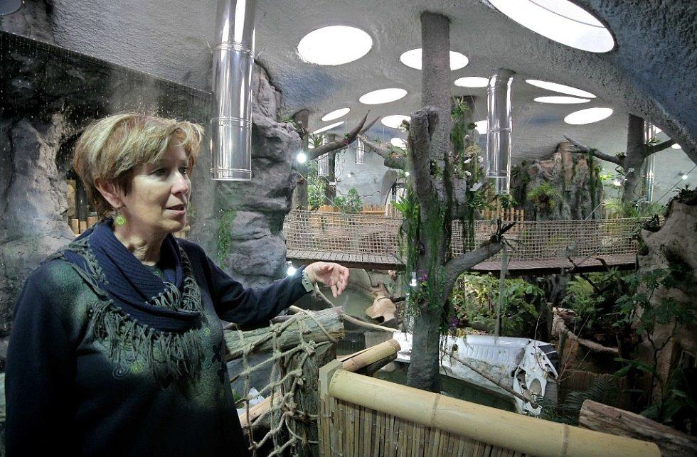 Tropický pavilon v jihlavské zoologické zahradě.