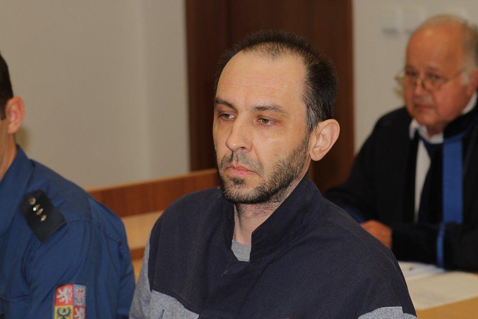 Vladimír Pejchal z Dobroutova na Jihlavsku před Okresním soudem v Jihlavě.