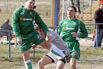 Fotbalisté Rantířova (v zeleném) se oklepali po prohře na hřišti Šebkovic a doma si bez větších problémů poradili s Čáslavicemi.