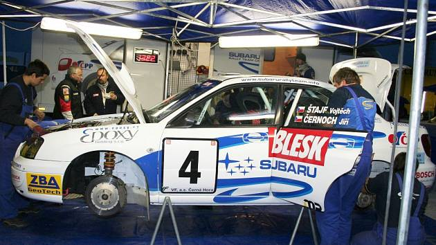 Poslední přípravy na 18. ročník Horácké rallye.