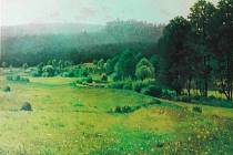 Antonín Chittussi: Údolí Chrudimky, olej, 1887