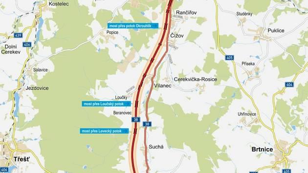 Přeložka silnice I/38 se vyhne Stonařovu i dalším obcím.