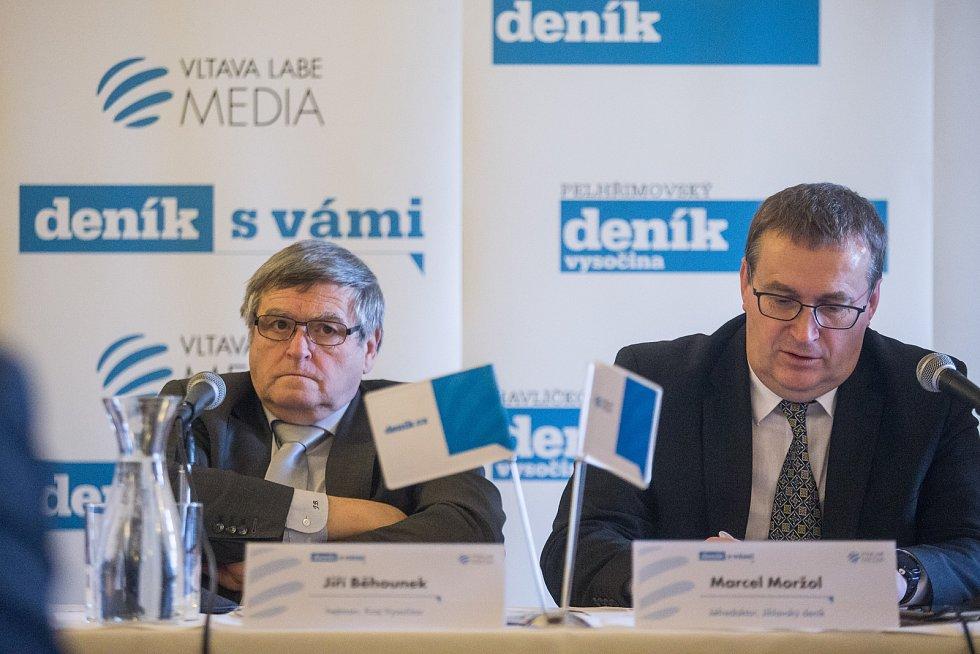 Deník s vámi - Setkání s hejtmanem Kraje Vysočina Jiřím Běhounkem.